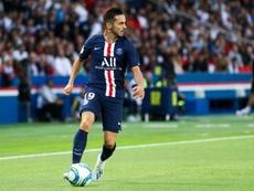 Sarabia se estrenó como goleador del PSG. AFP