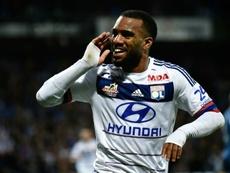 Les buts d'Alexandre Lacazette contre Saint-Etienne. AFP