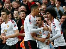 Mata y Lingard fueron los goleadores para el United. AFP