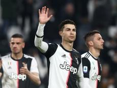 Toujours pas de Cristiano Ronaldo à l'entraînement. AFP
