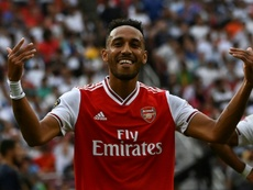 Sources in France claim Aubameyang could be going to Barça. AFP