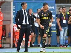 Allegri has praised his superstar. AFP