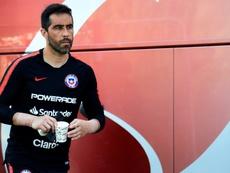 Claudio Bravo arremetió contra el sindicato de futbolistas chilenos. AFP