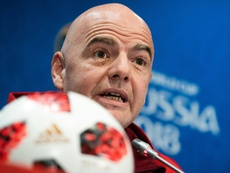 Infantino is not happy with the proposal. AFP