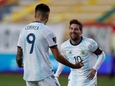 Messi y Lautaro son el mejor remedio para la fobia argentina. AFP
