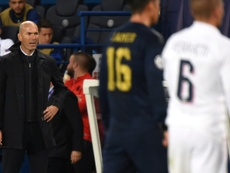 Le message de Zidane au PSG après la victoire contre Leipzig. AFP