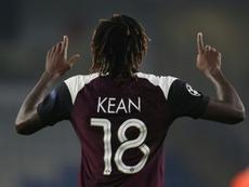 Entre tanta estrella, Kean fue el salvador con otro doblete. AFP
