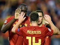 Mertens elogió a Eden Hazard. AFP