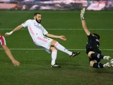 Karim Benzema marcou 13 gols nesta temporada. AFP