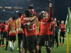 El Rennes consiguió una victoria de mérito en el Villamarín. AFP