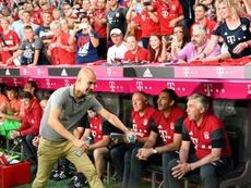 El agente de Guardiola quitó veracidad a lo publicado sobre el Bayern. AFP