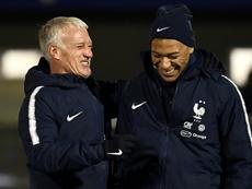 Deschamps defendió a su jugador. AFP