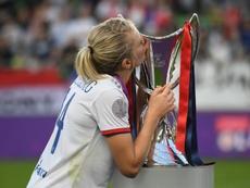 Ada Hegerberg ha sido elegida la mejor de la final. AFP