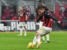 El Milan busca un recambio para Theo Hernández. AFP