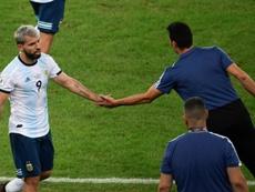 Scaloni confirmó a Agüero y Messi ante Uruguay. AFP