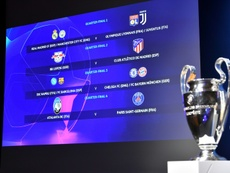 El calendario para la fase final de la Champions League. AFP