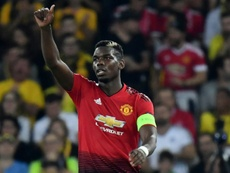 Paul Pogba inspired Manchester United's win over Young Boys. AFP