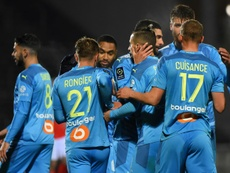 Les compos probables du match de Ligue 1 entre Marseille et Nîmes. AFP
