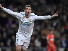 Cristiano a inscrit un triplé face à la Real Sociedad. AFP