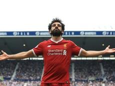 Salah took home the silverware. AFP