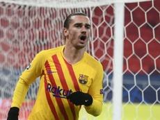 Griezmann le marcó un gol soberbio al Ferencvaros. AFP
