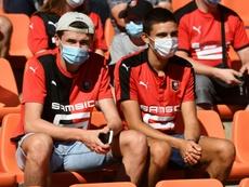 Des supporteurs de Rennes. afp