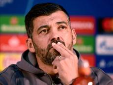 Sérgio Conceição fez a antevisão ao duelo da segunda-mão da meia-final da Taça de portugal. AFP