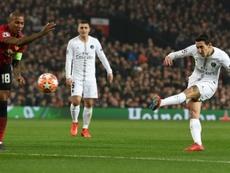Di María respondió a los insultos en Old Trafford. AFP