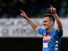 Milik não jogou 52 partidas pelo Nápoles. AFP