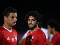 Elneny encara un nuevo curso cedido lejos del Arsenal. AFP/Archivo