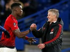 United veut empêcher Pogba d'aller à Madrid. AFP
