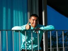 Cristiano Ronaldo tested positive for the coronavirus. AFP