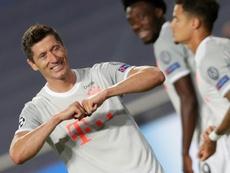 Robert Lewandowski, artilheiro isolado da Champions League. AFP