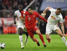 Mourinho a supervisé Upamecano face à Bayern. AFP