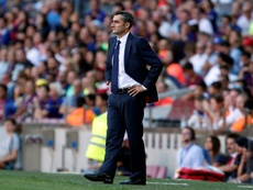 Ernesto Valverde is planning to make tactical changes before the Tottenham match. AFP