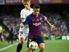 Le coup de gueule de l'agent de Coutinho. AFP