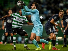 Andre Moreira was forced to self-isolate at half-time. AFP