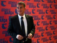Laporta habló sobre el fichaje de Rafa Márquez y el ofrecimiento de Cristiano. AFP