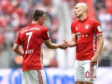 Uma despedida para Robben e Ribéry. AFP