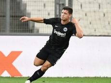 Luka Jovic firmó varias actuaciones espectaculares en el Eintracht. AFP/Archivo