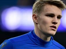 Odegaard atrajo hasta el Reale Arena a los ojeadores del Manchester United. AFP