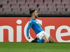 El Nápoles, a octavos de la Europa League. AFP