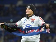 Aniversariante do dia, Bruno Guimarães chegou ao Lyon no início de 2020. AFP