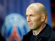 Mensaje de Zidane. AFP