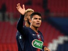 Thiago Silva descansará ante el Montpellier. AFP