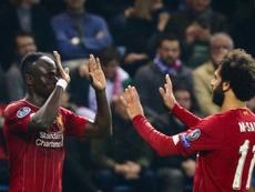 Mané revient sur son altercation avec Salah. AFP