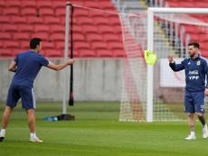 Messi apporte son soutien à Lionel Scaloni. AFP