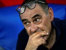 Sarri, a punto de llegar a un acuerdo con la Juventus. AFP