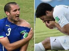 Chiellini justificó a Luis Suárez por su mordisco. AFP
