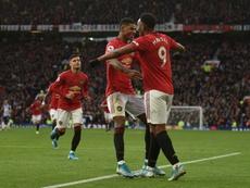 El United vuelve a ganar tras caer ante el Bournemouth. AFP
